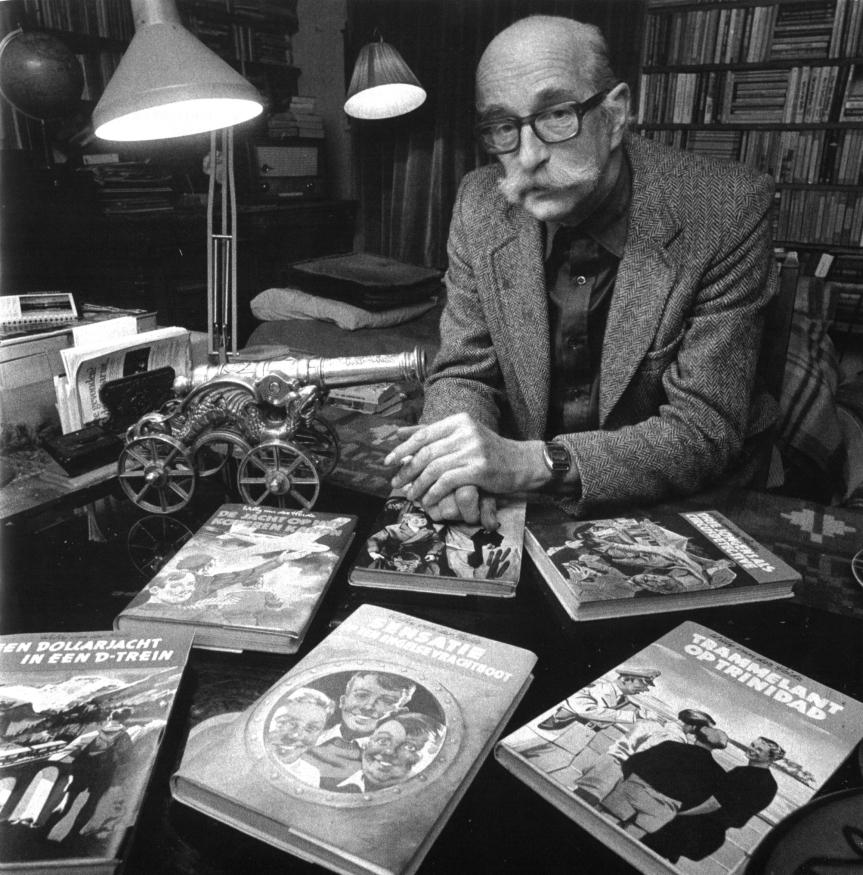 Waterman, Willem - portret met boekjes